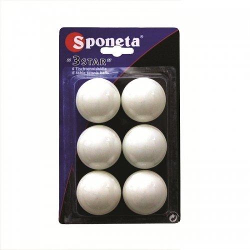 Míčky na stolní tenis SPONETA Tournament *** - 6ks